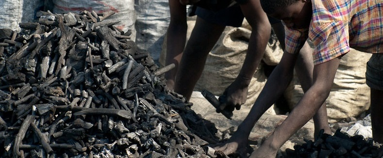 Charcoal Market in Haiti
